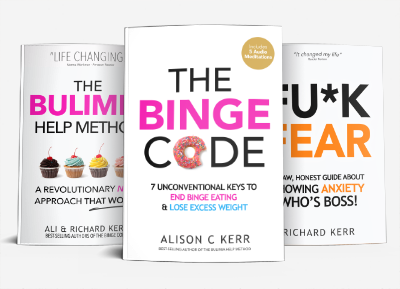 Bulimia Help Method, the Binge Code, F**k Fear books
